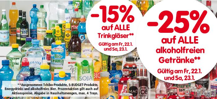 -25% auf alkoholfreie Getränke bei Interspar