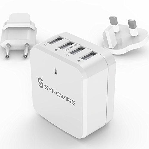 4-Port USB-Ladegerät mit Reiseadapter und viel Leistung nur 8,99€