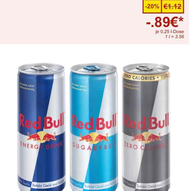 Red Bull um 0,89 cent bei Lidl nur SAMSTAG