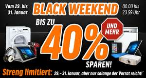 [notebooksbilliger] Black Weekend - Prozente auf viele Produkte, u.a. Notebooks, Tablets, SSD, ...