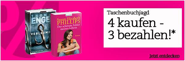 [Thalia.at] Taschenbuchjagd: 4 Bücher kaufen, 3 bezahlen!