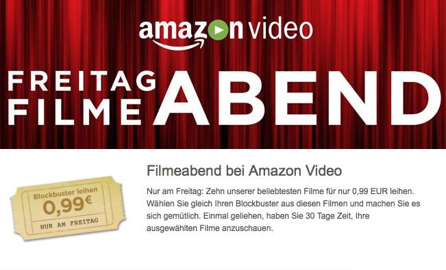 Amazon Instant Video Freitag Filmeabend - Filme ausleihen für 0,99€ - u.a. mit Ant-Man