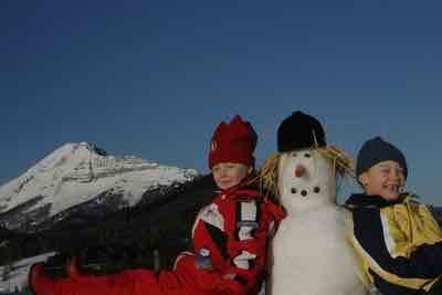 Schneemannkarte Kinderermäßigung