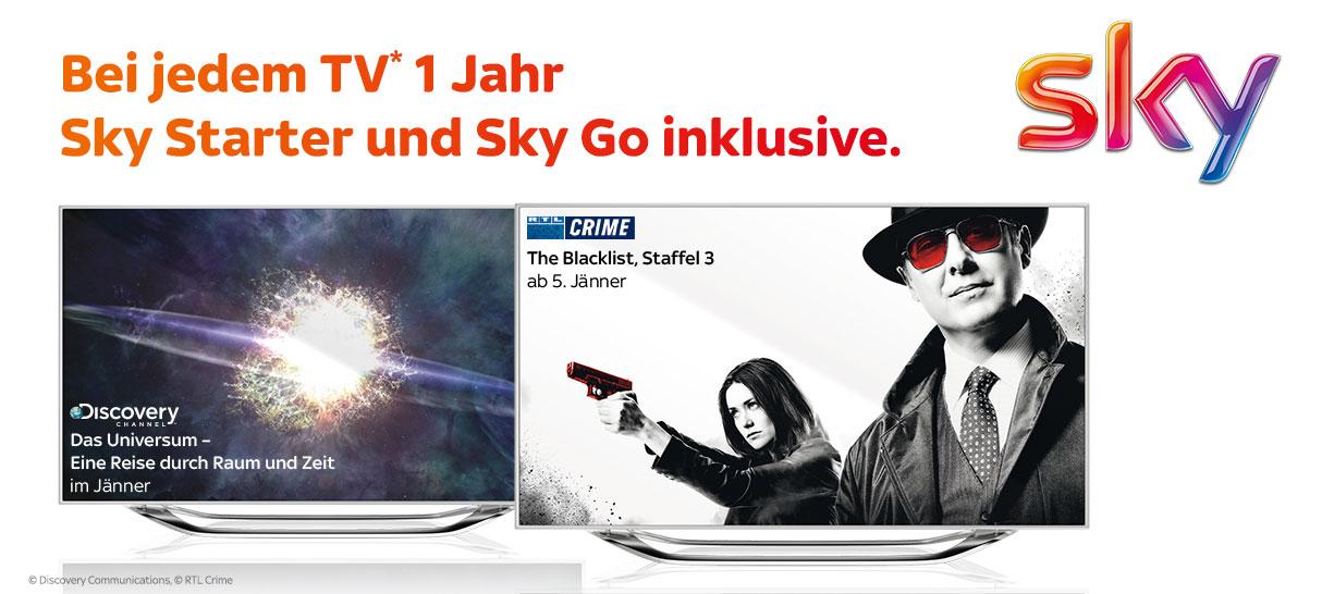 Sky Starter bei Kauf eines Fernsehers bei electronic4you