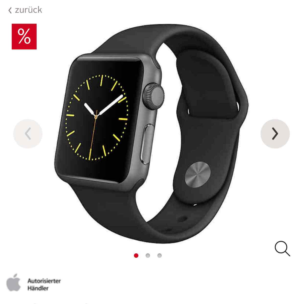 Apple Watch - 42 mm um 346 € - 38 mm um 299 € - nur mit LogoiX
