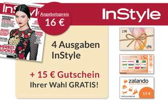 4x Instyle dank eines 15€ ShoppingBON Gutscheins für effektiv 1€