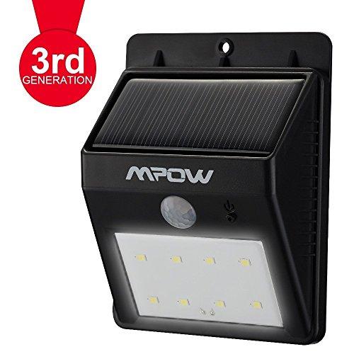 Solar Leuchte 8 LED Bewegungsmelder bei Amazon