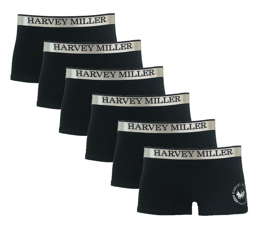 Harvey Miller Polo Club Boxershorts Herren Unterhosen 3x2er Pack