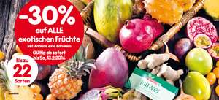 Lebensmittelhandel Angebotsübersicht 11.2.2016 - 17.2.2016