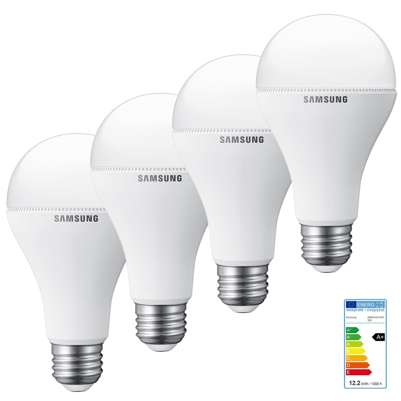 4x Samsung LEDs (E27, 12,2 Watt) für 13,95€ (Vergleich 22,32€)