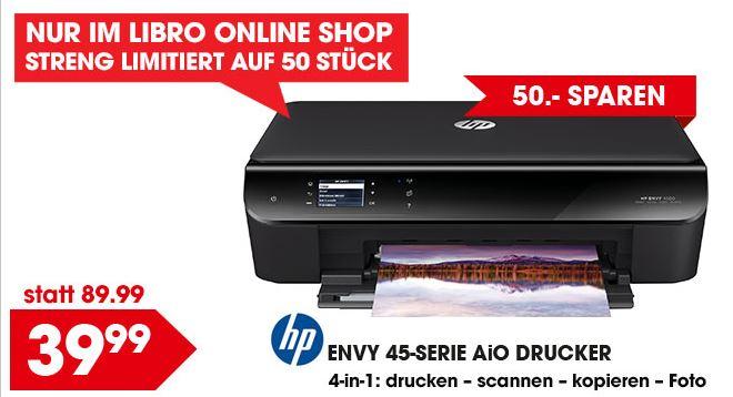 Libro online: Drucker HP Envy 4500 um nur €39,98