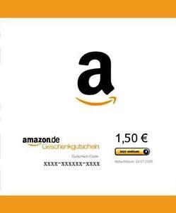[eBay] 1,50€ Amazon Gutschein für 1€