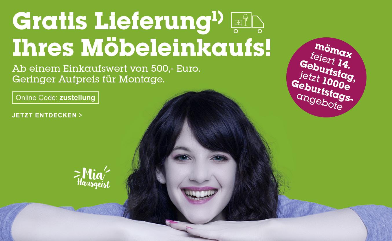 Gratis Lieferung ab 500 € Mömax.at