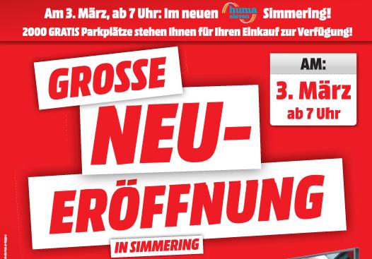 Media Makt Simmering (Huma Eleven) Neueröffnung am 3. März 2016 - alle Angebote im Preischeck