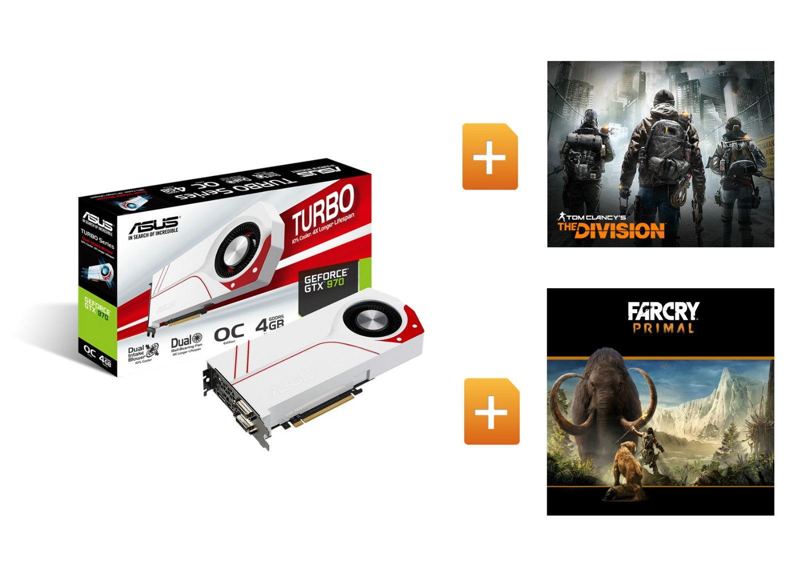 ASUS GeForce TURBO GTX970 OC 4GB The Division Far Cry Primal Gaming Grafikkarte