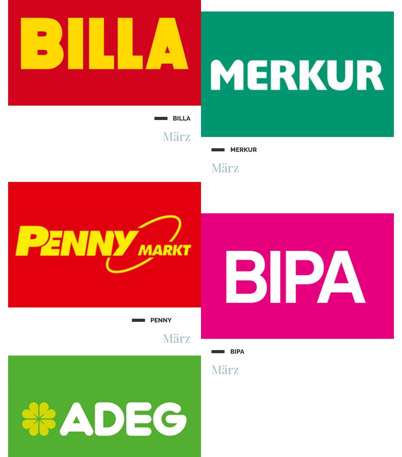 1+1 Gratis Gutscheine (Adeg, Billa, Bipa, Merkur, Penny) - 50% sparen
