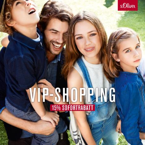 s.Oliver: VIP-Shopping mit bis zu 20% Sofortrabatt - bis zum 13. März