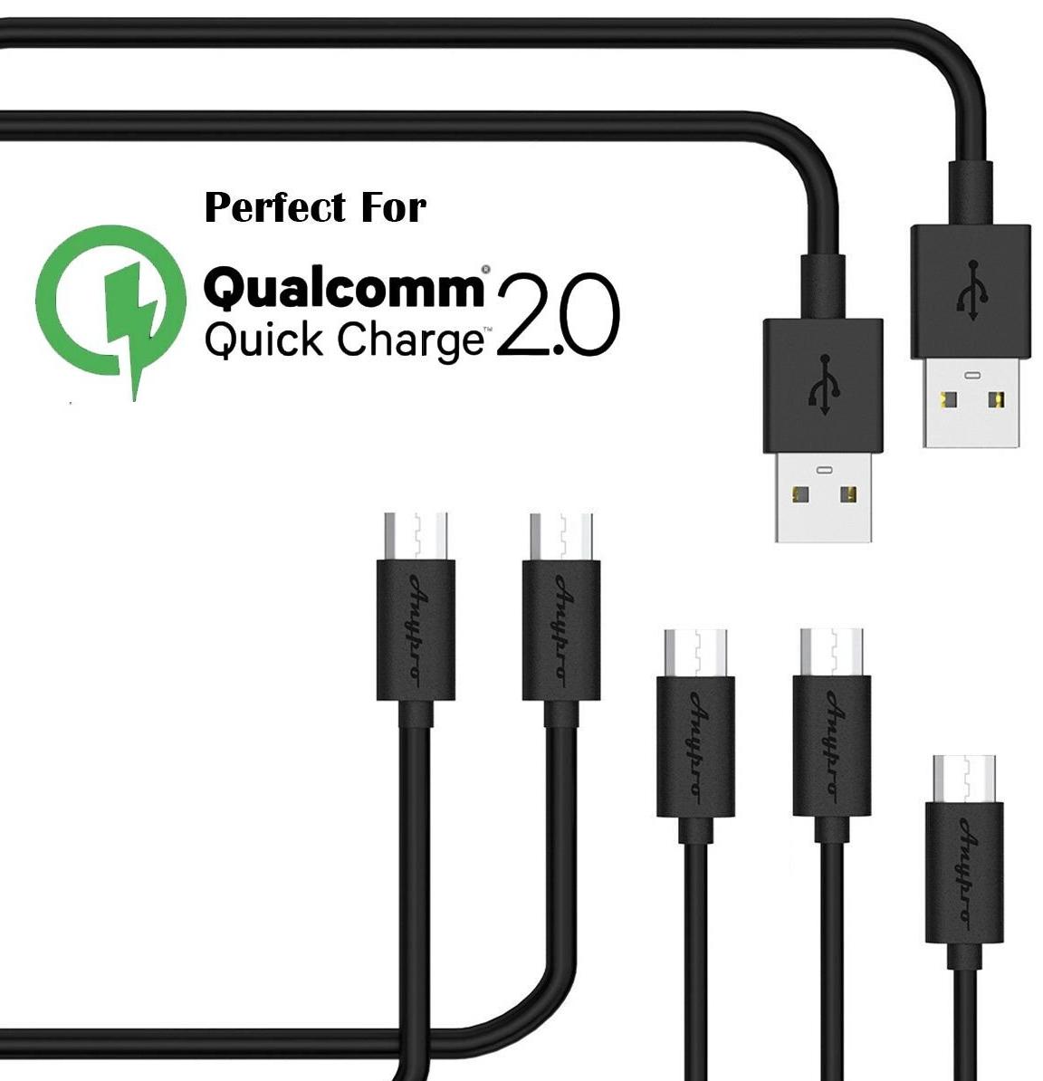 5er Pack Micro USB Kabel (1x30cm / 2x1m / 2x3m) mit Gutschein für 7,62€ (Prime)