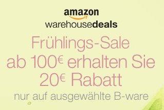 Amazon Warehousedeals - 20€Rabatt auf ausgewählte Artikel - nur vom 14. bis zum 27. März