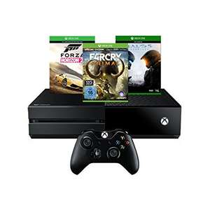 Amazon: Xbox One 500GB Konsole inkl. Forza Horizon 2 + Far Cry Primal + Halo 5 für 319€