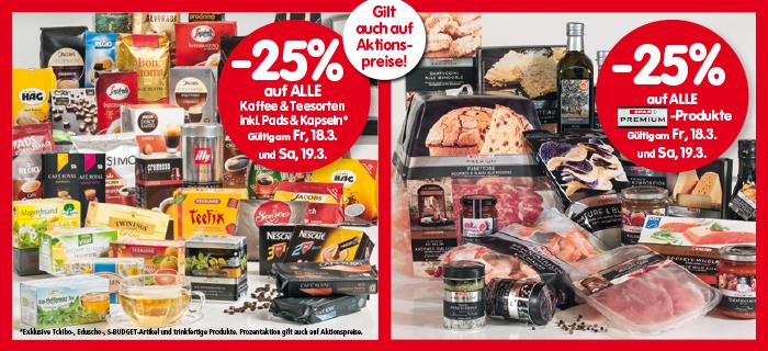 Lebensmittelhandel Angebotsübersicht 17.3.2016 - 23.3.2016
