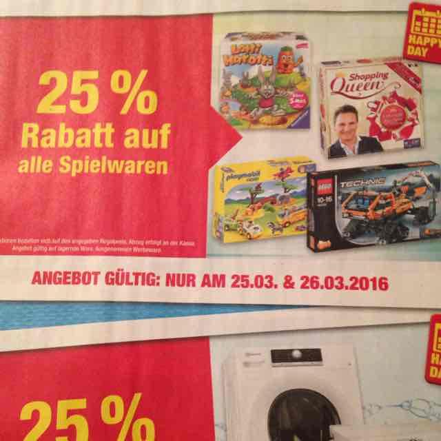 Metro -25% auf alle Spielwaren