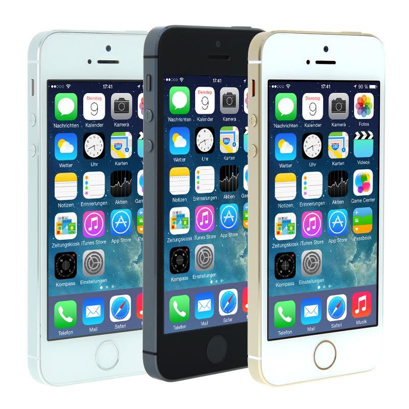 Apple iPhone 5s (16 GB, refurbished) um 199 € inkl Versand - 45% sparen