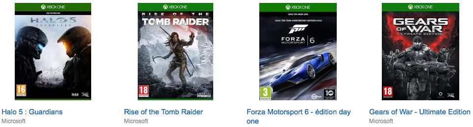 Amazon Frankreich: 2 XBox One Spiele um 59 € inkl Versand