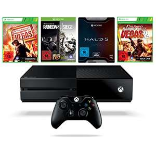 [Amazon.de] Xbox One 1TB Konsole inkl. Rainbow Six Siege + Rainbow Six Vegas + Rainbow Six + Halo 5: Guardians - Limited Edition für 319€ - 28% sparen
