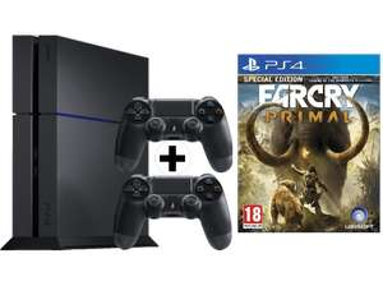 [mediamarkt] PlayStation 4 1TB Schwarz + 2. Controller + Vertikaler Standfuß + Far Cry Primal für 389,99€ - 24% sparen