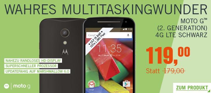 [Cyberport] Cyberdeals - z.B. beim Motorola Moto G™ (2. Generation) LTE 12% sparen!