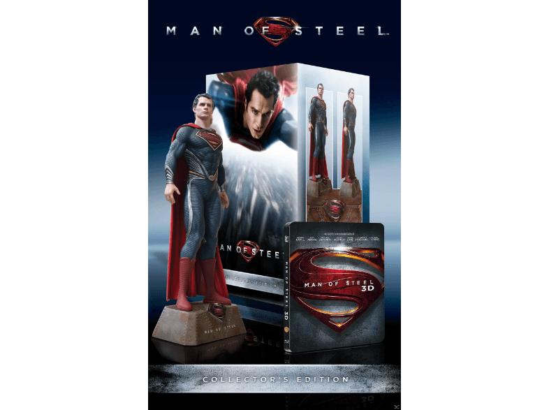Saturn: Man of Steel Collector's Edition mit 30 cm Figur Action Blu-ray 3D - Versandkostenfrei!