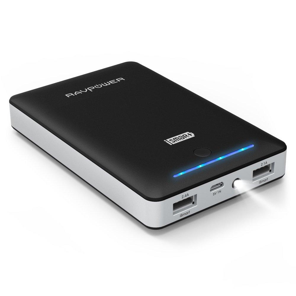 Amazon.de Blitzangebot:  Powerbank RAVPower 16.750mAh 4,5A Ausgang Externer Akku um €23,99 (bis 12:30)