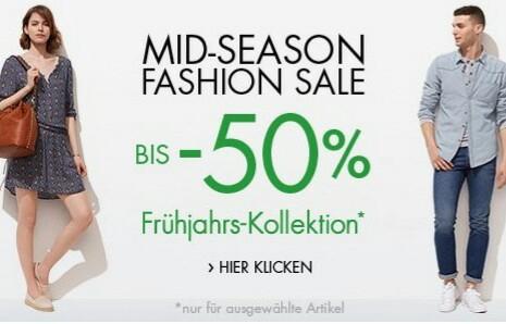 Mid Season Sale mit bis zu -50% bei Amazon - Tops ab 3€/Shirts ab 7€