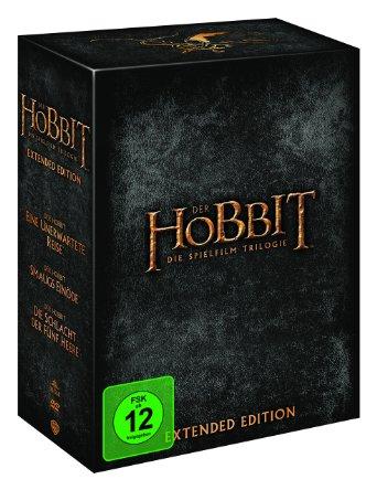 Der Hobbit - Die Spielfilm-Trilogie (Extended Version, 15 Discs) für 40,31€ - Vergleich 55,60€