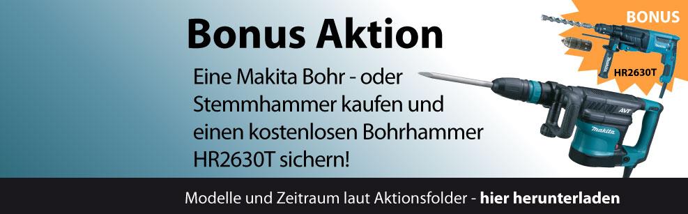 [Makita] Bohr- oder Stemmhammer kaufen und einen Bohrhammer gratis erhalten