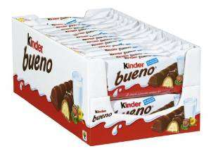 30er-Pack Kinder Bueno (30 x 2 Riegel) mit Prime nur 11,50€ (im Vergl.  24,98€)