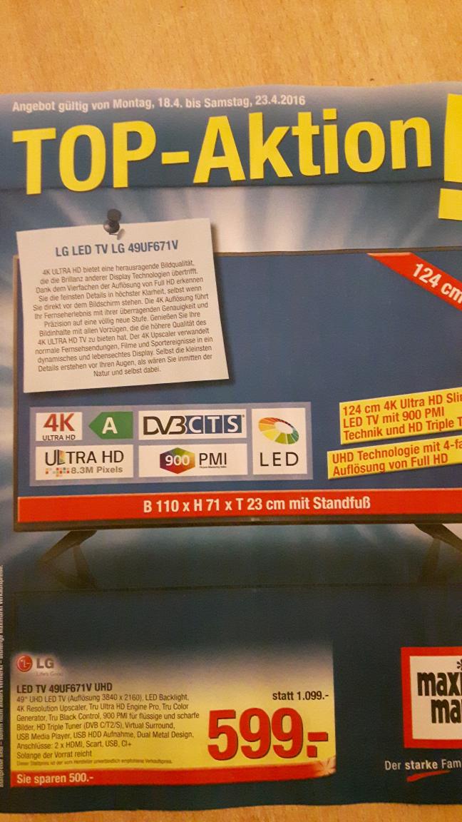 4K LED TV 49UF671V UHD zum Bestpreis