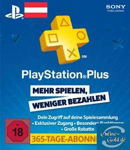 [G2A] PlayStation Plus 365 Tage AT (PSN Card 50 um 41,99 oder PSN Card 20 um 17,49)