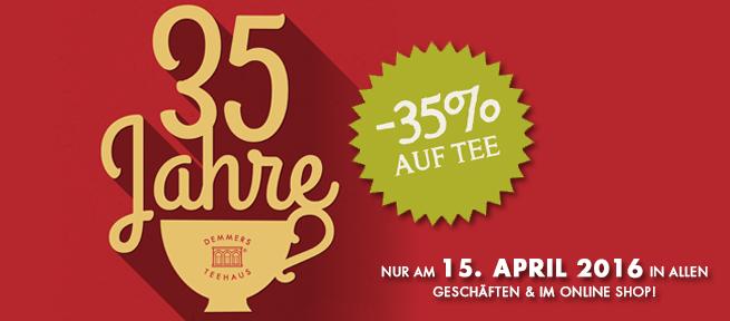 Demmers Teehaus - nur heute -35% auf Tee im Geschäft und Online
