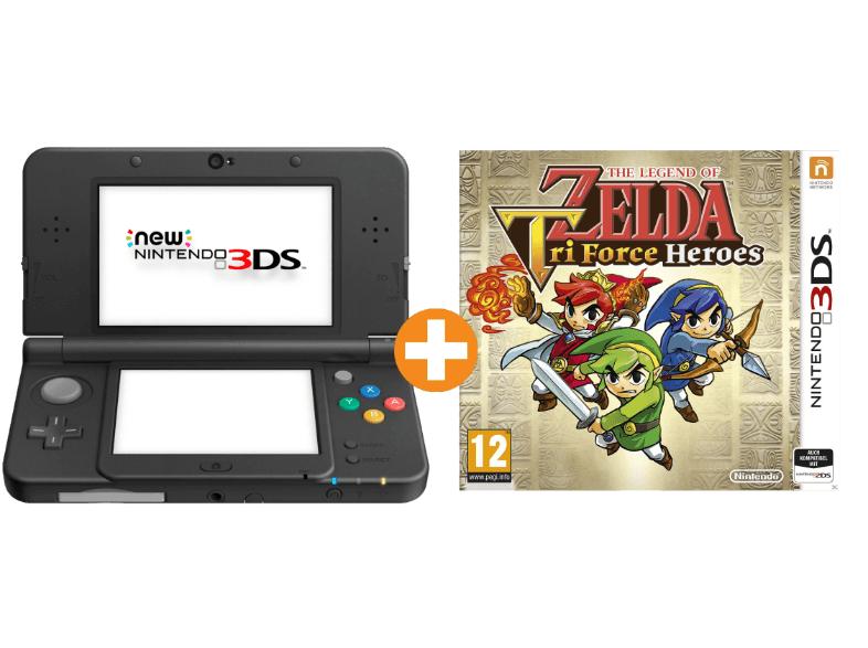 [Saturn.at] New Nintendo 3DS (Schwarz oder Weiß) + The Legend Of Zelda Tri Force Heroes für 161€