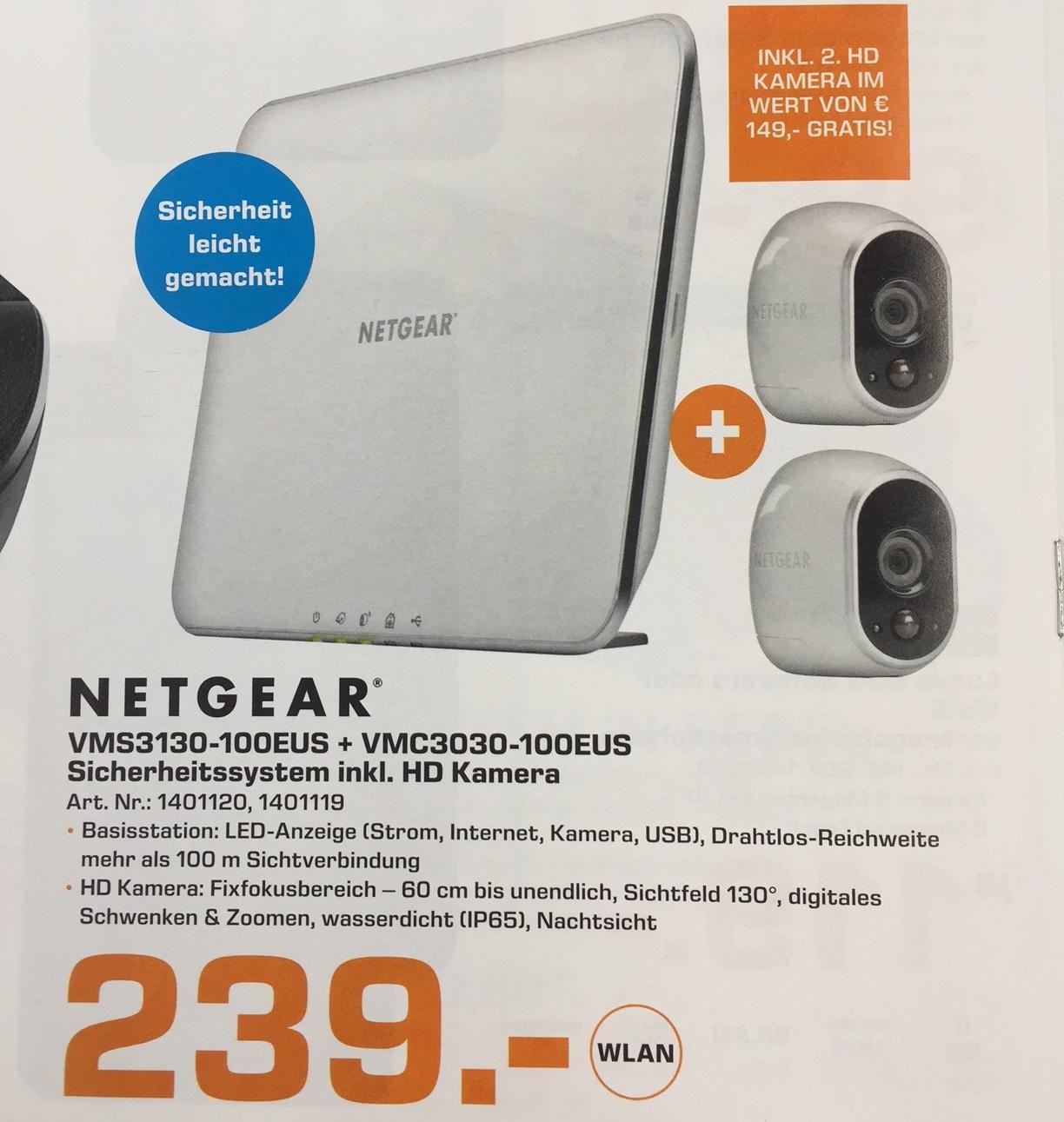 Netgear Arlo - Basisstation und 2 Kameras um 239,-