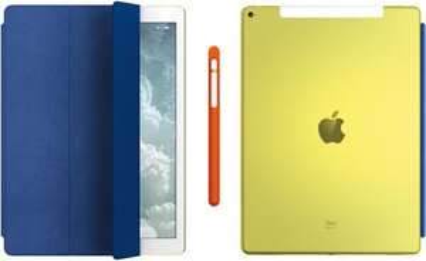 Apple iPad Pro (gelb/blau, Leder) - Versteigerung (12500 €) - am 28.4.2016