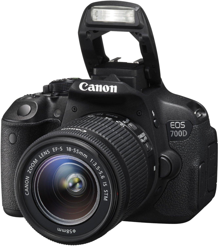 Canon EOS 700D SLR-Digitalkamera (18 Megapixel, 7,6 cm (3 Zoll) Touchscreen) Kit inkl. EF-S 18-55mm mur 303€ (Vergl. 495€)