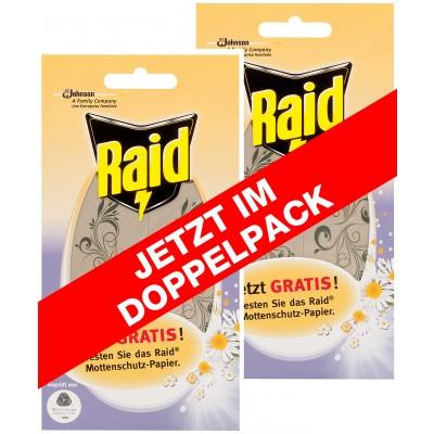 Raid Mottenschutz Papier - Doppelpack - GRATIS inkl Versand