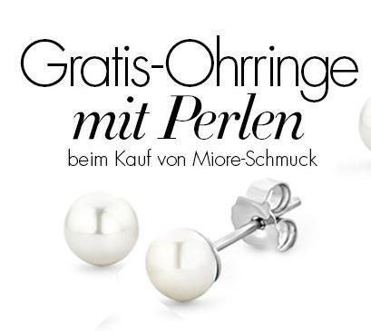 Gratis Perlen Ohrstecker (im Wert von 50€) beim Kauf von Miore-Schmuck (ohne MBW)