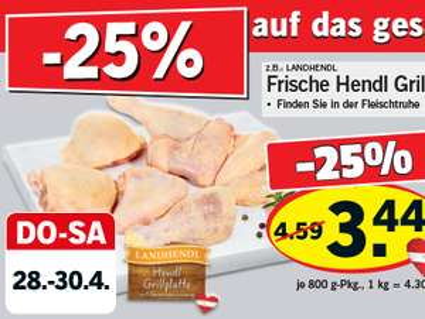 Lebensmittelhandel Angebotsübersicht 28.4.2016 - 4.5.2016