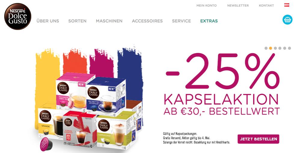 DOLCE GUSTO -25% KAPSELAKTION