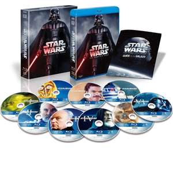 Star Wars: The Complete Saga [9 Blu-rays + Extras] um 70,58€