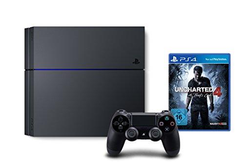 Amazon: PlayStation 4 - Konsole (1TB) + Uncharted 4: A Thief's End [CUH-1216B] für 339€